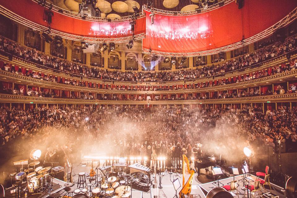 Albert Hall - end of gig