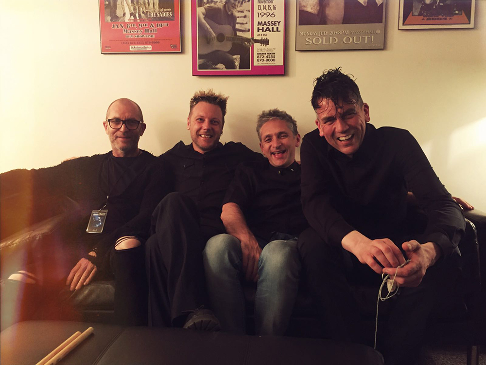 Me. Bob, Bid, and Neil backstage - Toronto